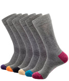 BAMBOO CREW SOCKS SOLID GREY
