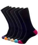 BAMBOO CREW SOCKS SOLID BLACK