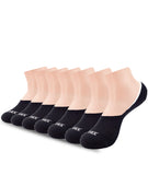 7 PACK NO SHOW LINER SOCKS BLACK