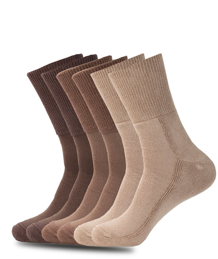 NON-BINDING DIABETIC BROWN SOCKS