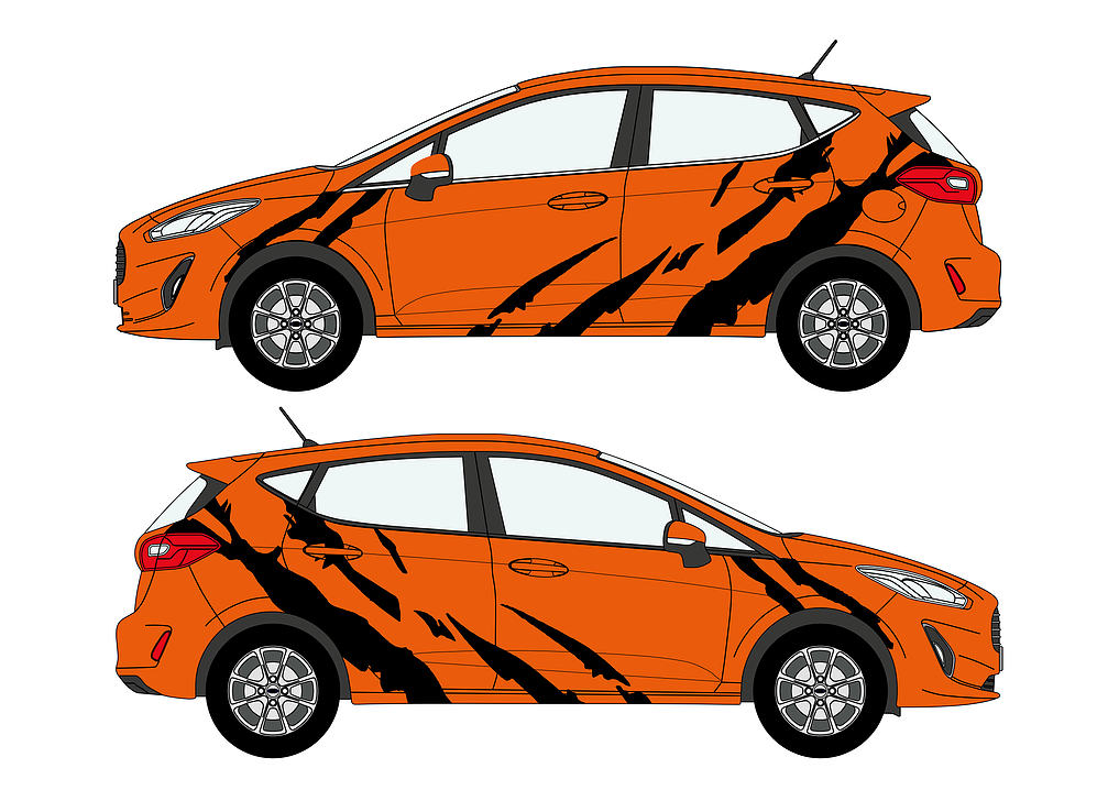 Mk8 Fiesta Tiger Stripe Decal Set
