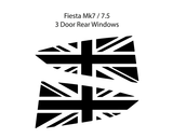 Mk7 / 7.5 Fiesta Union Jack Window Vinyl
