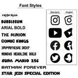 Instagram Decal Sticker (Singles)