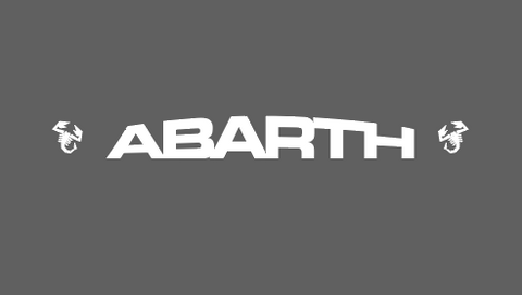 ABARTH sun strip text and logos