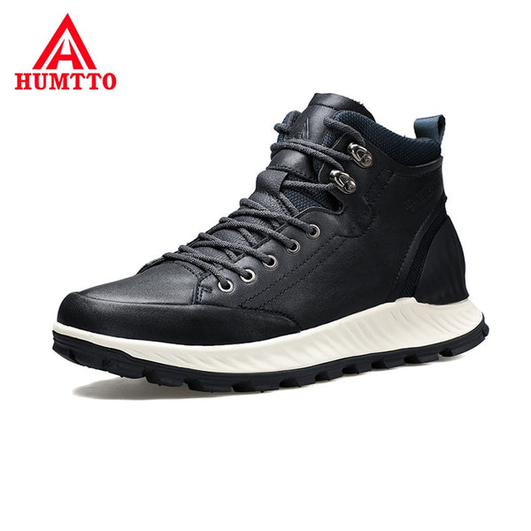 High Quality High-top Hiking Boots Non-slip Wear Resistant Outdoor Sport Waterproof Shoes Brand Genuine Leather Trekking Boots