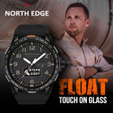 NORTH EDGE Smart Watch Men Waterproof 50M Swimming Fitness Sports Heart Rate Monitor Smart watches Bluetooth Android IOS FOLAT