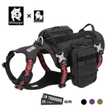 Truelove Dog Harness Backpack Bag Saddle Military Tactical Waterproof Harness Pet Dog Backpack Carrier Outdoor Travel Training