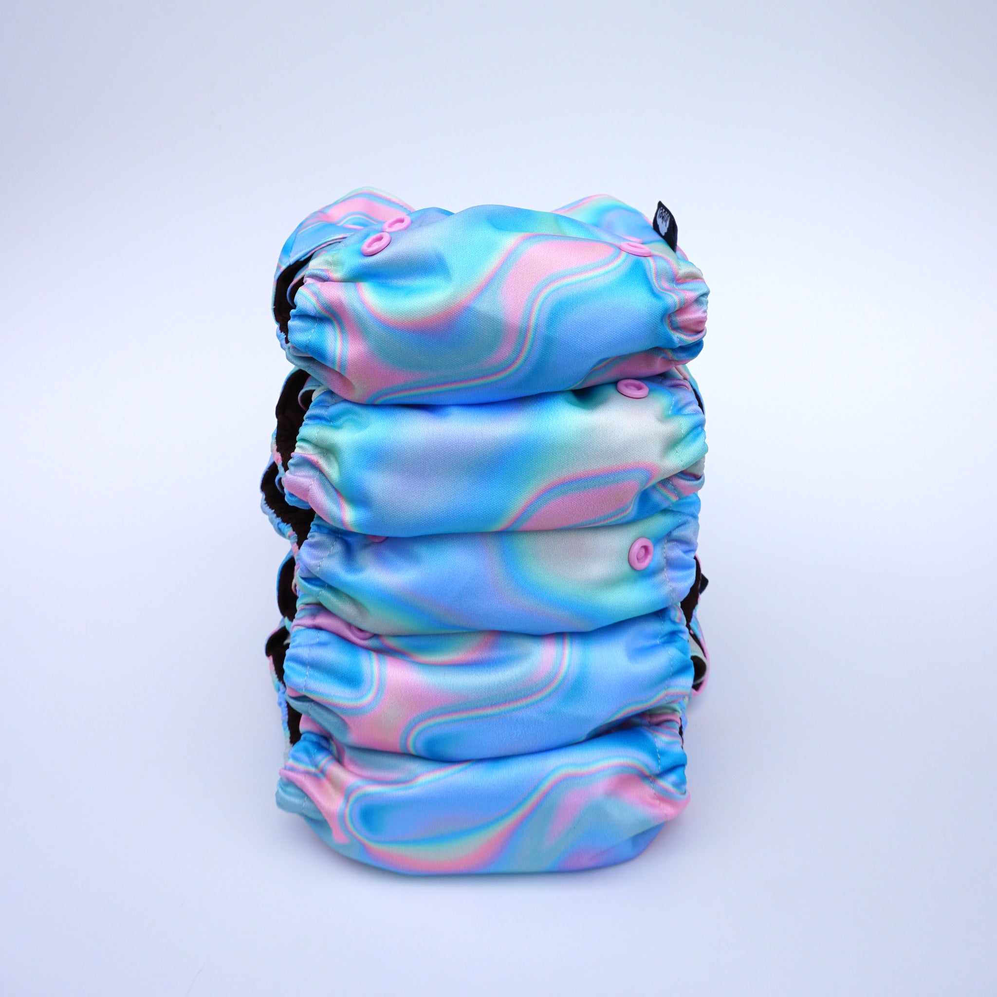 JUBEL Classic reusable nappy colour SÜSSES stack of 5 nappies