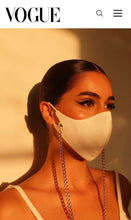 Load image into Gallery viewer, The Tina Mask in White With 7mm Gold Chain
