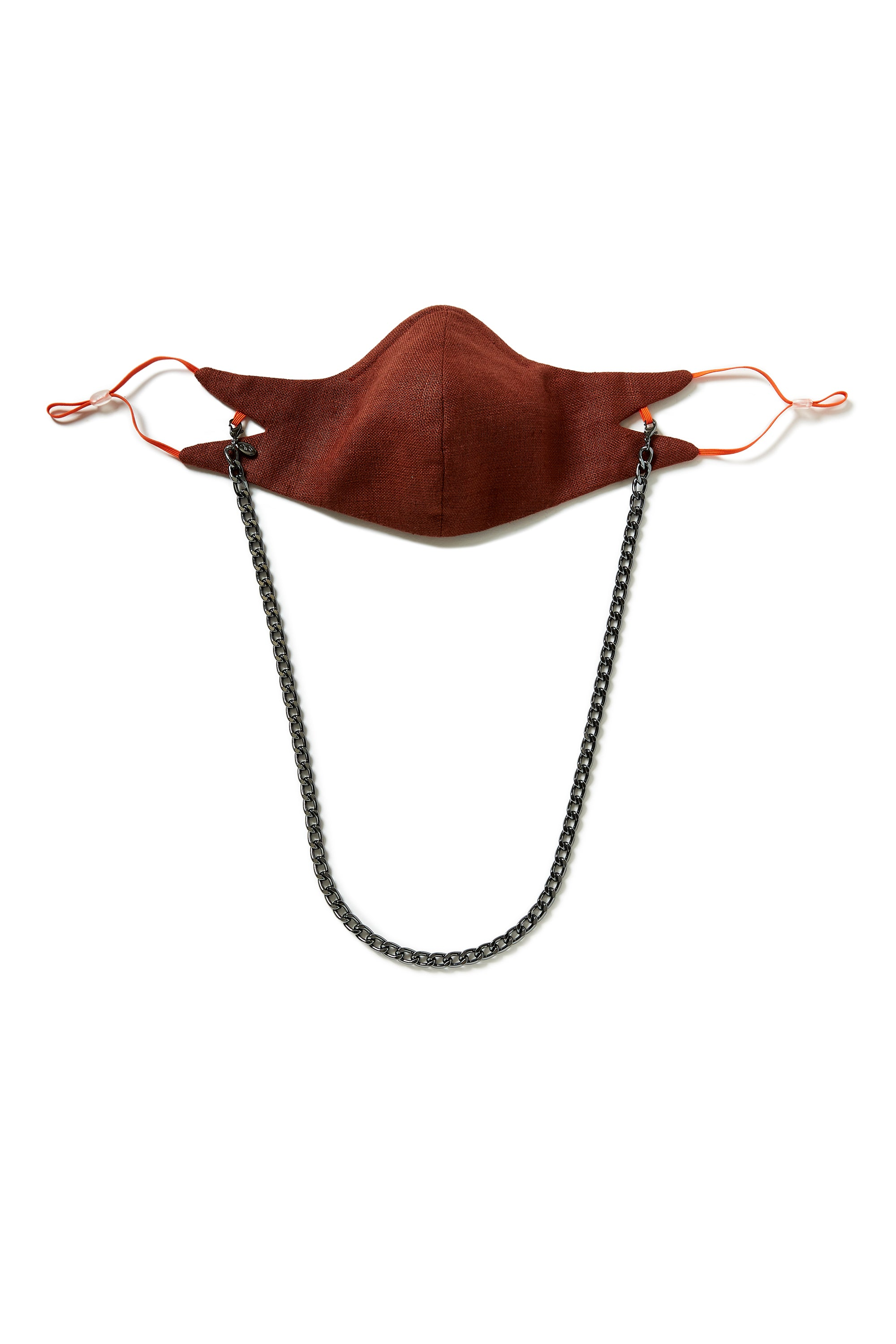 The Tina Mask in Spice With 7mm Gunmetal Chain