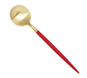 CUTIPOL GOA Red Matte Gold Coffee/Tea Spoon