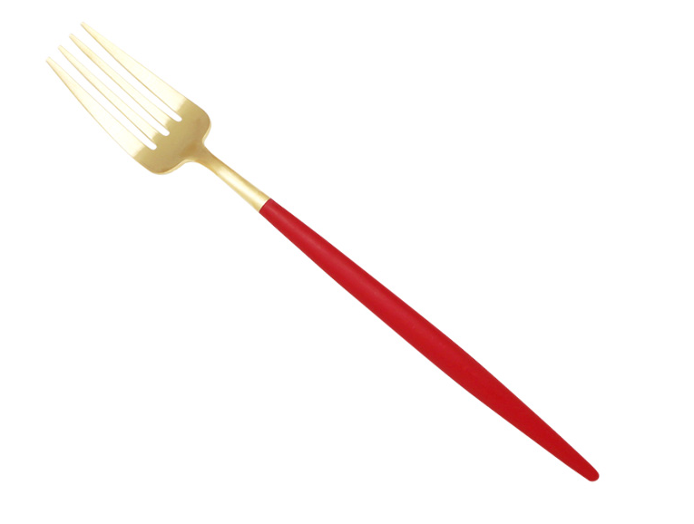 CUTIPOL GOA Red Matte Gold Dinner Fork