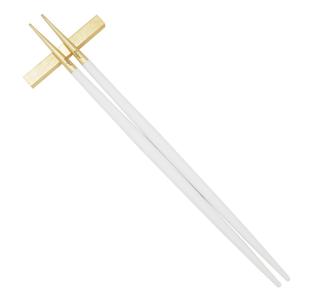 CUTIPOL GOA White Matte Gold Chopstick Set [3P]