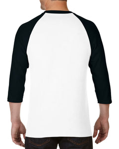 12 Customized Gildan G570 - Heavy Cotton ¾-Sleeve Raglan Shirts