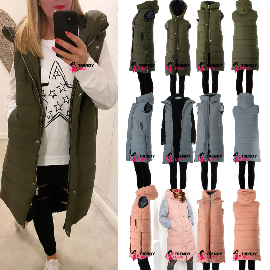 Ladies Chunky Puffer Jacket Bodywarmer
