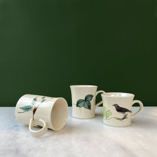 Fliff Carr Espresso Cup with Leaf and Closed Flower