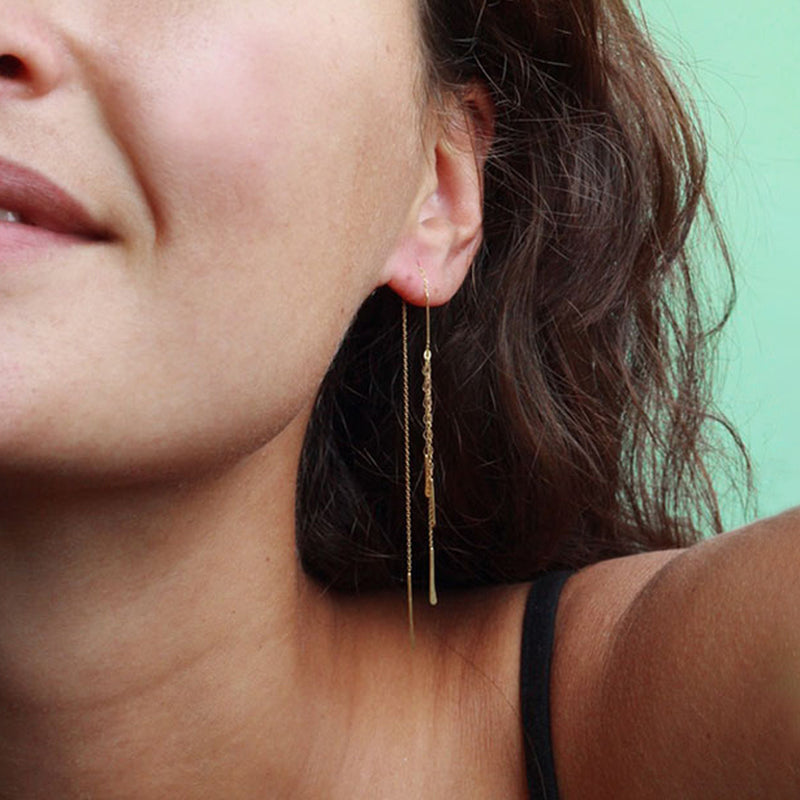 Sycamore Long Tread Through Earrings