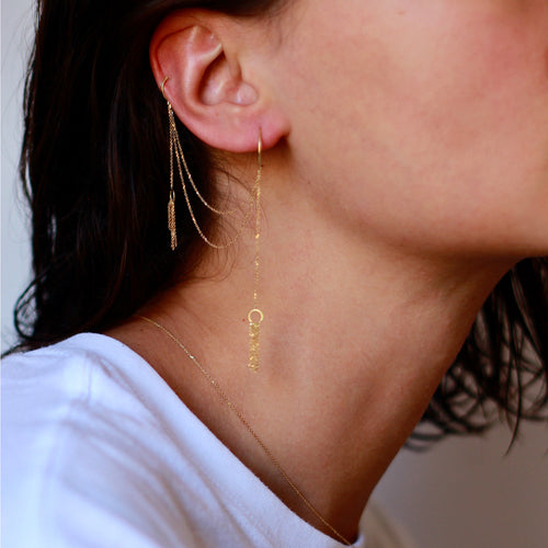 Take A Bow Hoop To Earcuff Earring