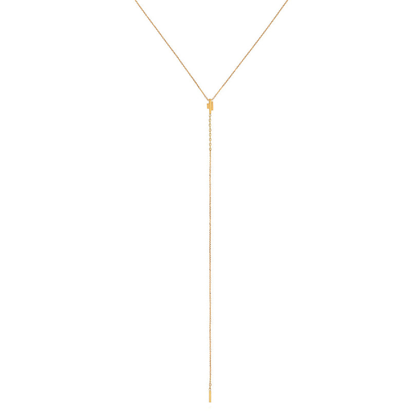 18CT DECO DECADENCE LARIAT STYLE BAR NECKLACE