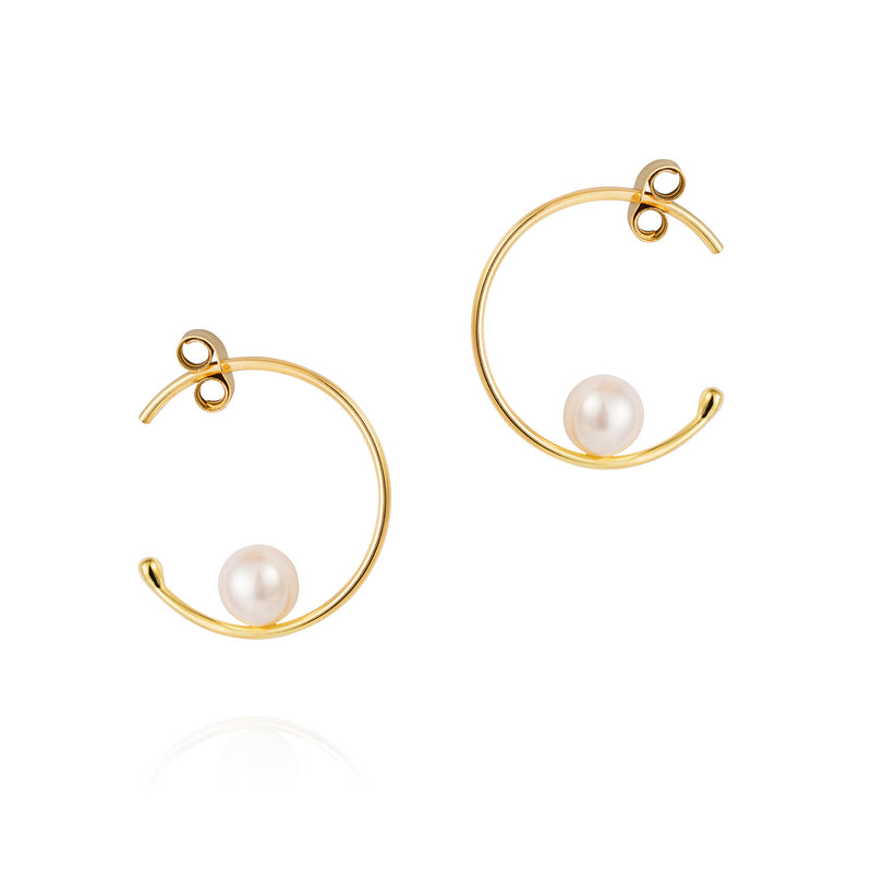 FLOATING PEARL BABY HOOPS