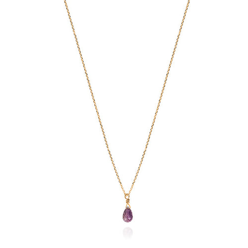 Purple Sapphire Drop Necklace