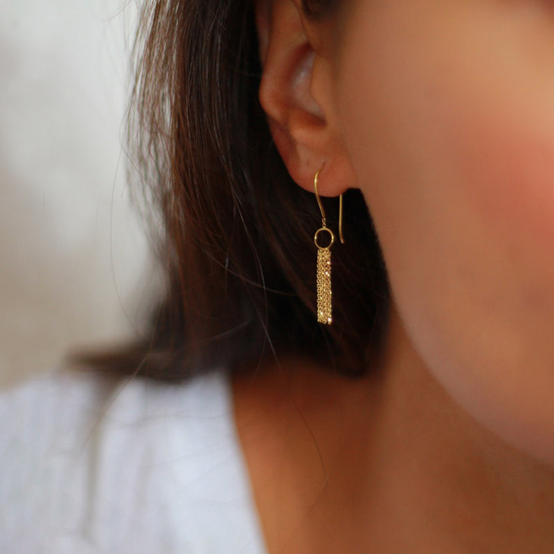 Deco Decadence Studs with Long Chains
