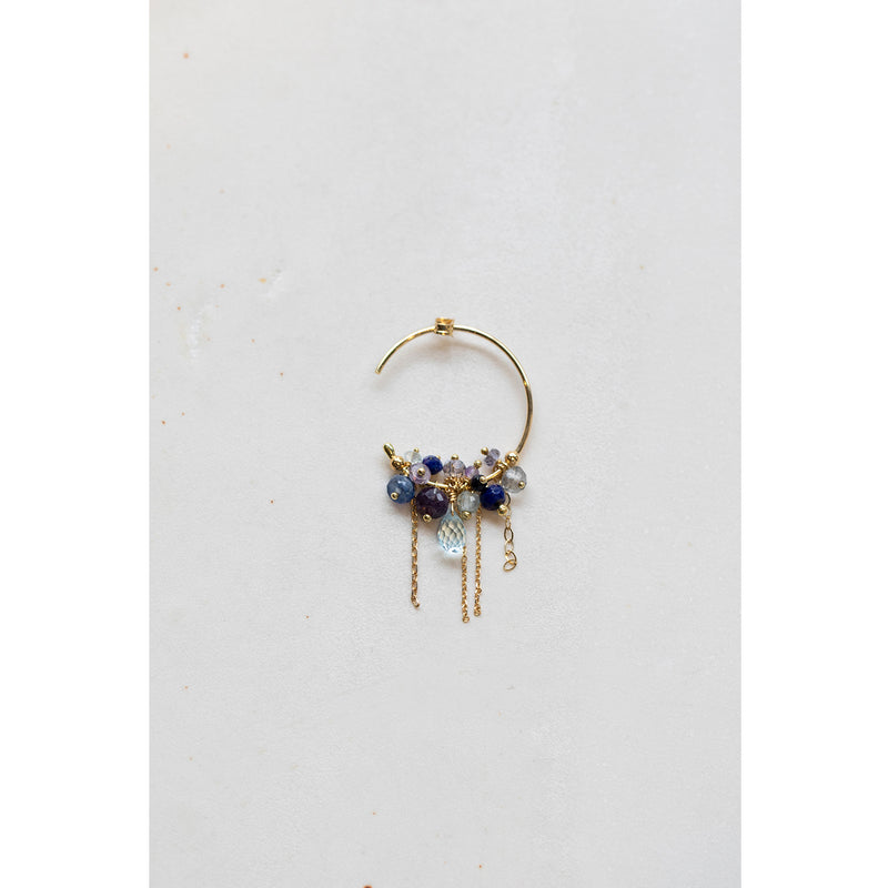 Sale Palette of Blue Hoop Earrings