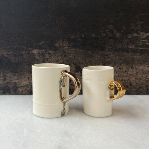 Fliff Carr Espresso Cup with Gold Metallic Drip
