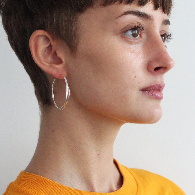 Alex Monroe Golden Vine Hoop Earrings