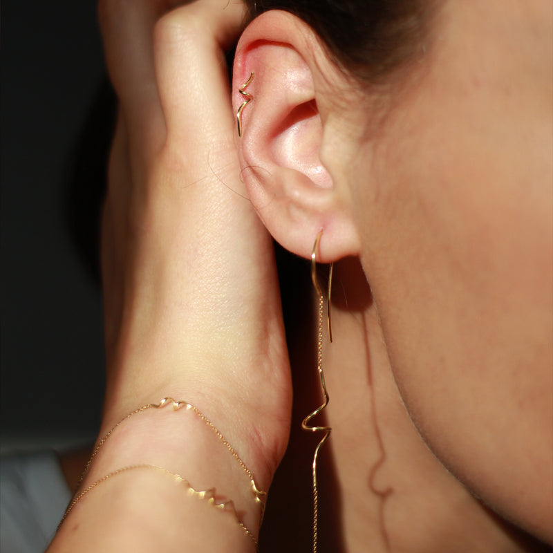 'Doodles in Gold' Studs