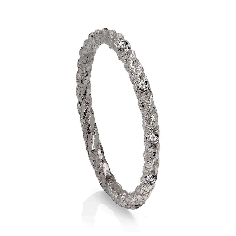 Kerry Huff White Gold Diamond set Twisted  Ring