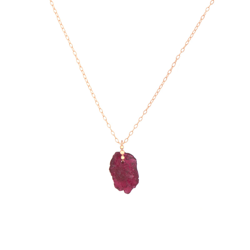 Celine Daoust Rose Gold Tourmaline Necklace
