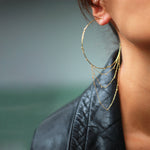 Large Gold Dust Hoops
