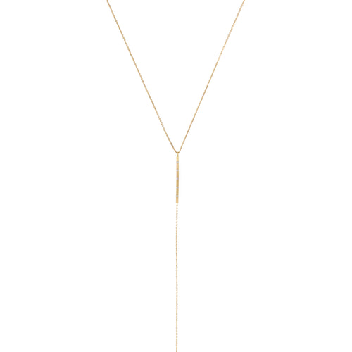 SQUARE CHIC BAR LARIAT STYLE NECKLACE