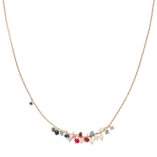 POGO PUNK RUBY SAPPHIRE AND CORONDUM NECKLACE