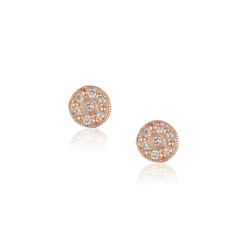 Brooke Gregson Rose Gold Circle Mini Mars Studs