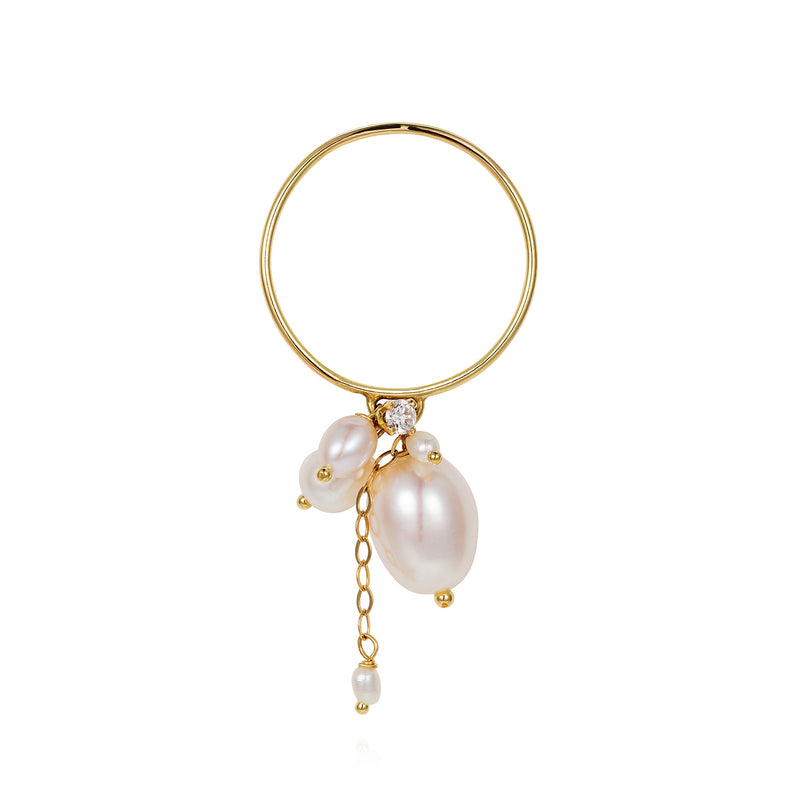 Snow Drop Pearl Ring