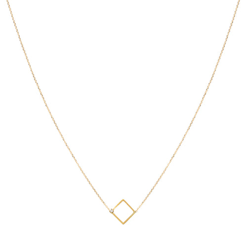 Precious Maze Square Necklace