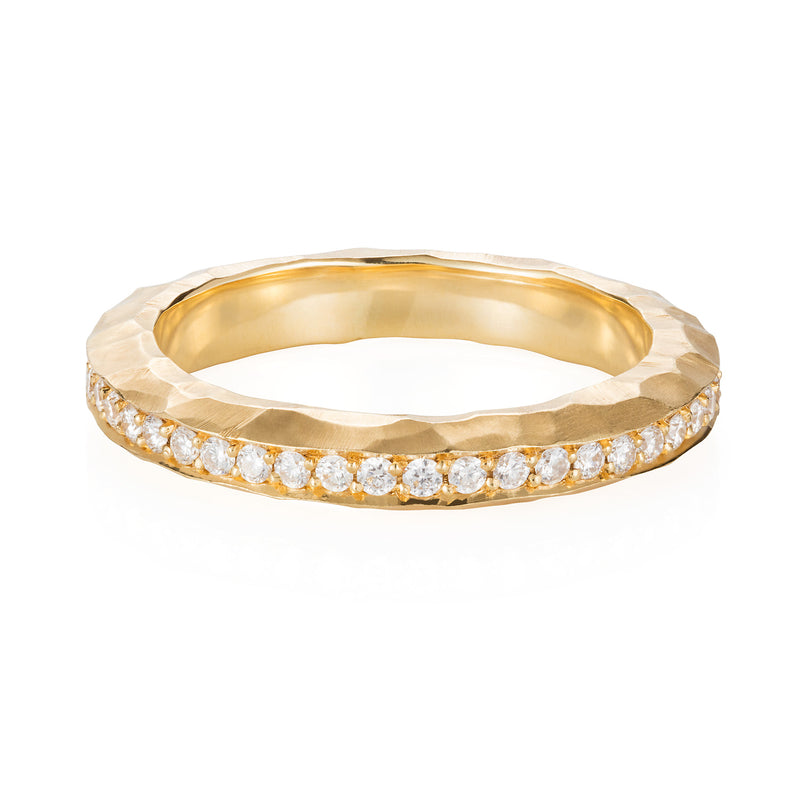 HAMMERED YELLOW ETERNITY RING