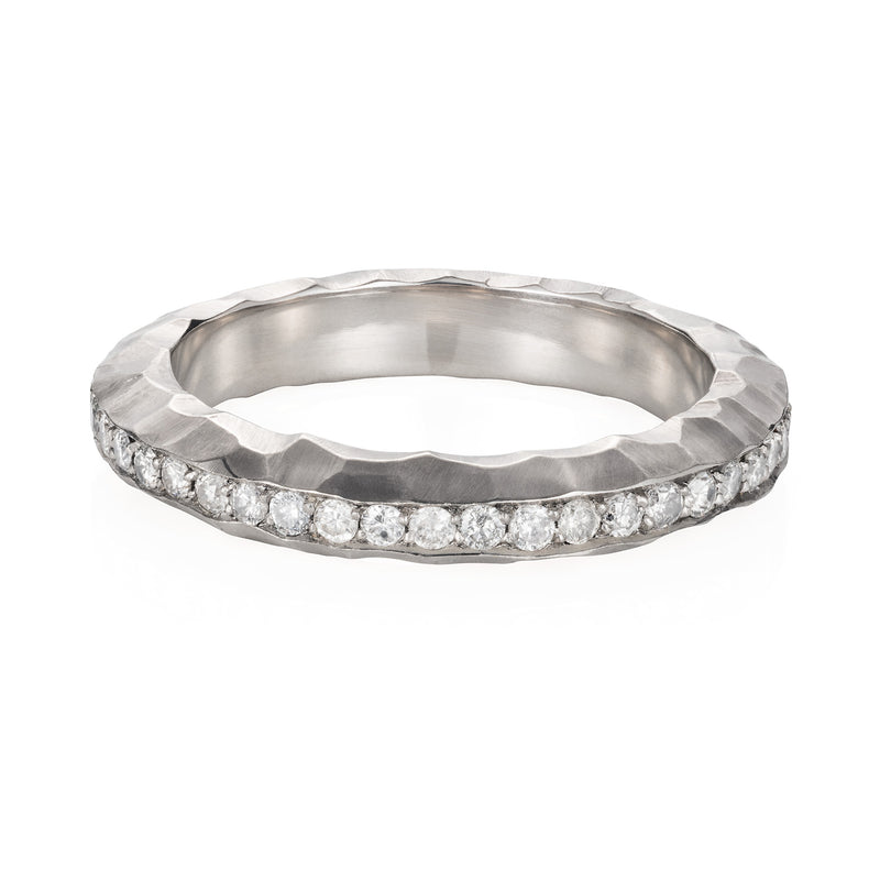 HAMMERED WHITE ETERNITY RING