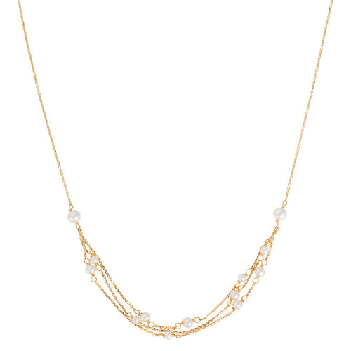 FLAPPER GIRL PEARL MULTI STRAND NECKLACE
