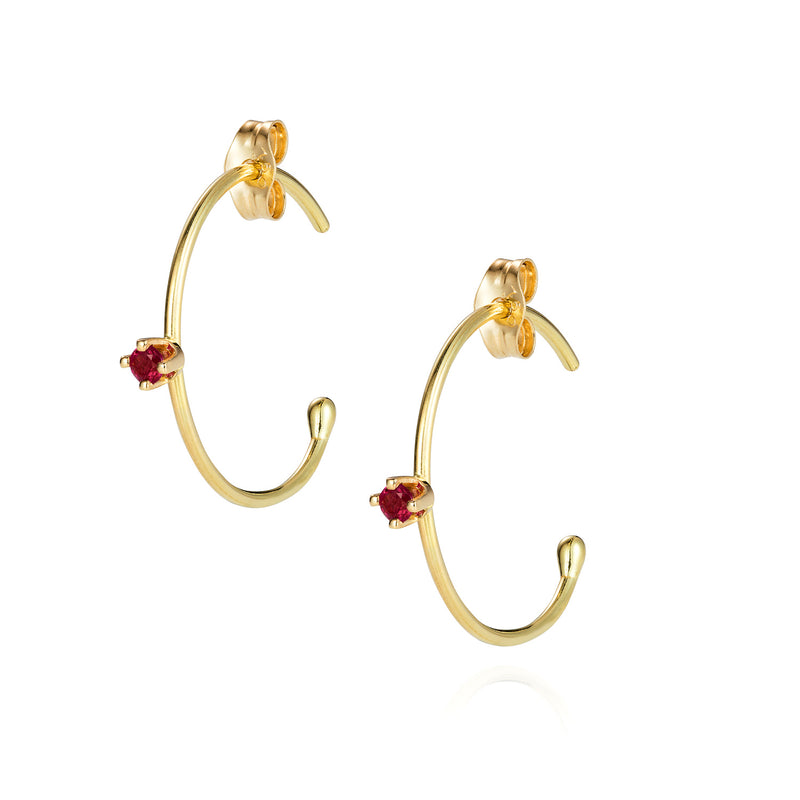 Pogo Punk Ruby Hoops