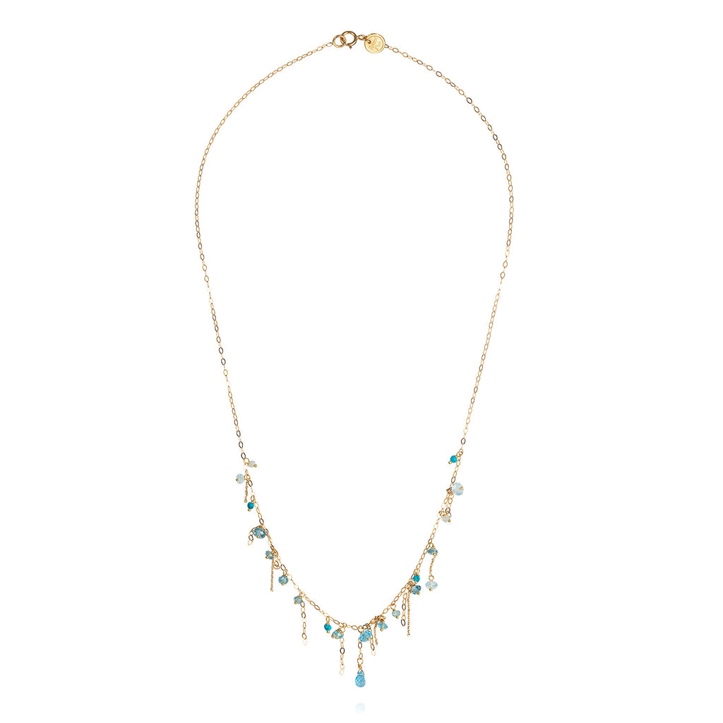 Blue Topaz And Turquoise Necklace