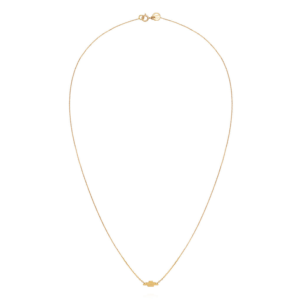 18CT DECO DECADENCE BAR NECKLACE