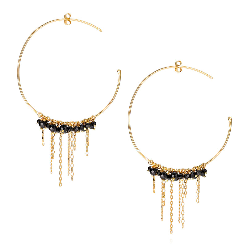 POGO PUNK MEDIUM BLACK SPINEL HOOPS