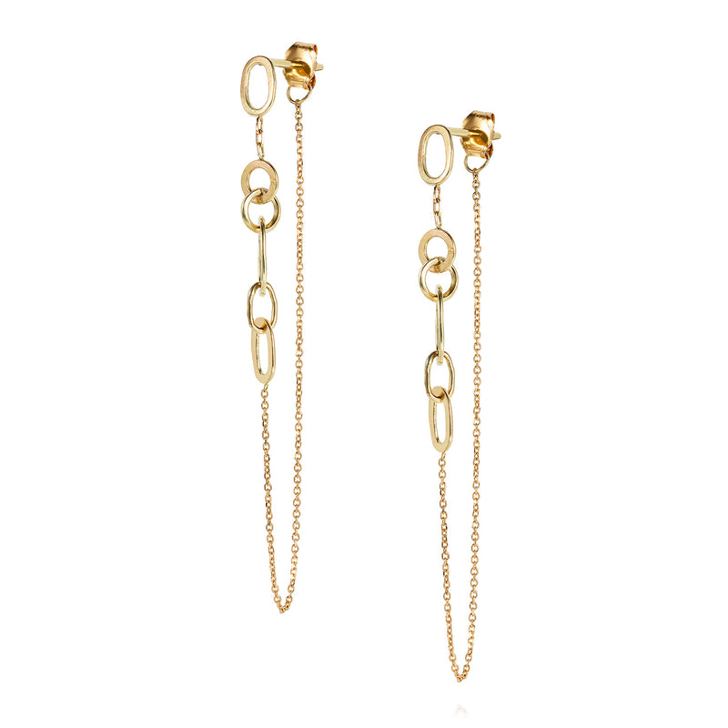 LINKED WITH LOVE DOUBLE EARRING