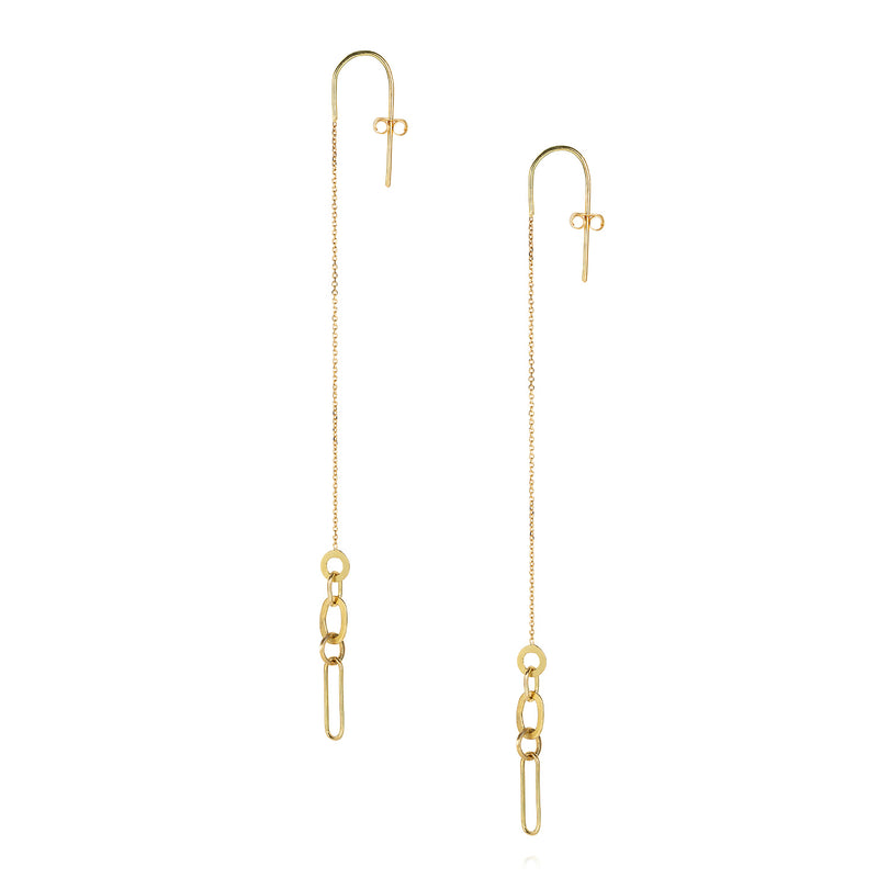 LINKED WITH LOVE LONG HOOK EARRING