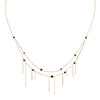 POGO PUNK BLACK SPINEL DOUBLE STRAND NECKLACE