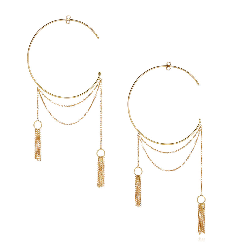 Take A Bow Large Hoop Earrings