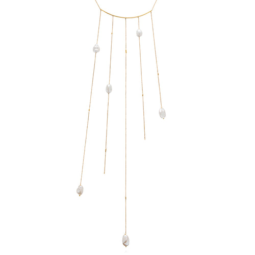 KESHI PEARL STATEMENT NECKLACE